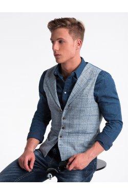Men's vest V51 - светло - голубой