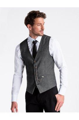 Men's vest V52 - Темно- Серый