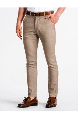 Men's pants chinos P831 - коричневый