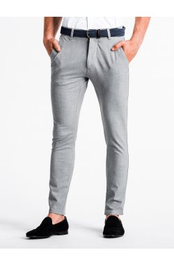 Men's pants chinos P832 - светло - Серый
