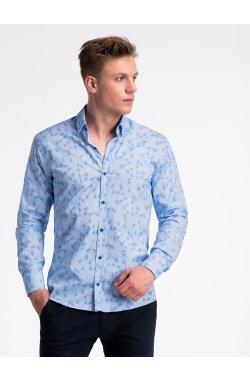 Рубашка мужская R500 - светло - голубой/голубой