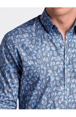 Рубашка мужская R500 - Синий/голубой
