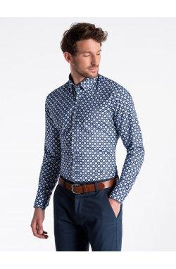Рубашка мужская R499 - светло - голубой/Синий