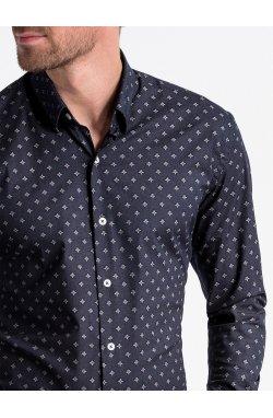 Рубашка мужская R494 - Белый/желтый
