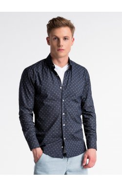 Рубашка мужская R494 - светло - Синий