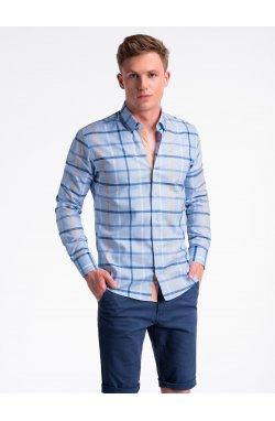 Рубашка мужская R493 - светло - голубой