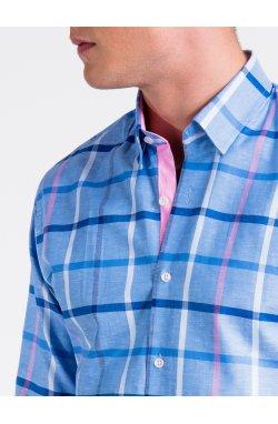 Рубашка мужская R493 - голубой