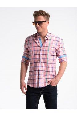 Рубашка мужская R493 - розовый