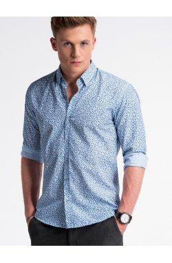Рубашка мужская R475 - Белый/Синий