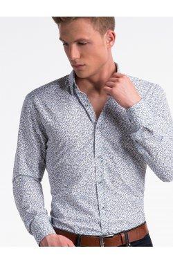 Рубашка мужская R475 - Белый/желтый