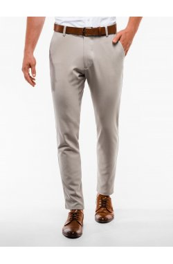 Men's pants chinos P832 - бежевый