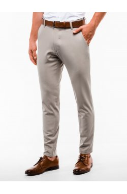 Men's pants chinos P832 - бежевый
