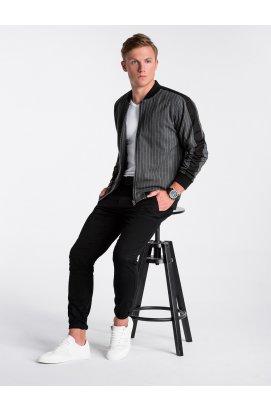 Men's mid- season bomber jacket C423 - Темно- Серый