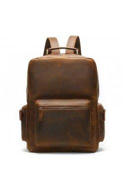 Рюкзак винтажный для ноутбука Vintage 14712 кожаный Коричневый, Коричневый