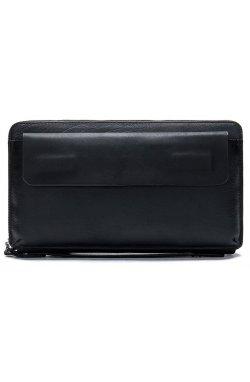 Мужской клатч-барсетка с ремешком на руку Vintage 14654 Черный, Черный