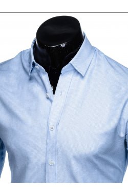 Рубашка мужская R442 - светло - голубой