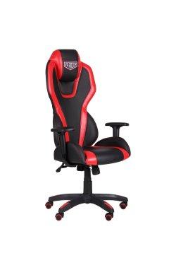 Кресло VR Racer Atom черный, PU черный/красный