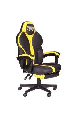 Кресло VR Racer Edge Throne черный/желтый