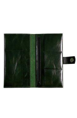 Клатч (тревел-кейс) из кожи зеленый Issa Hara - TC3 (97-00)