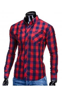 Рубашка мужская. Цвет красно-синий.