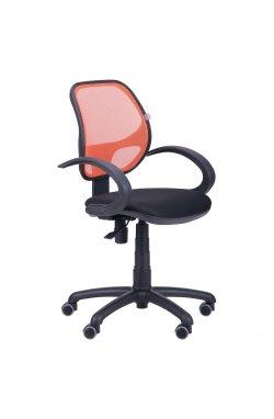 Кресло Байт/АМФ-5 сиденье Сетка черная/спинка Сетка оранжевая