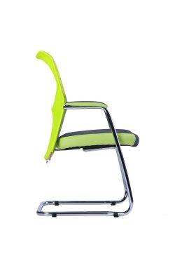 Кресло Аэро CF хром сиденье Сетка серая, Zeus 047 Light Green/спинка Сетка лайм-Br
