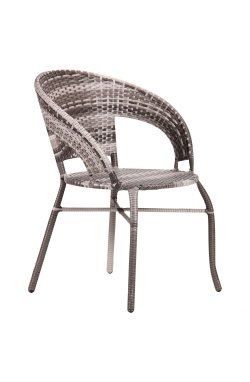 Кресло Catalina ротанг серый