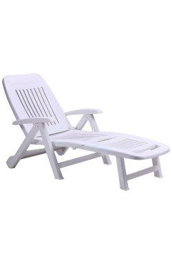 Шезлонг Fiorello пластик белый 01