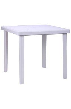 Стол Nettuno 80х80 пластик белый 01