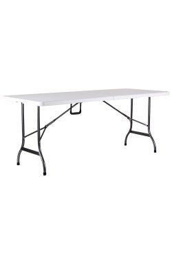 Стол складной Крайслер 180*75*74 пластик белый