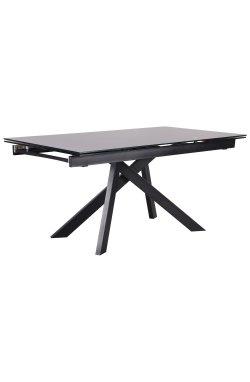 Стол обеденный раскладной Андалусия ET-1601 черный/стекло антрацит