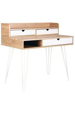 Компьютерный стол Franko белый/орех светлый+белый