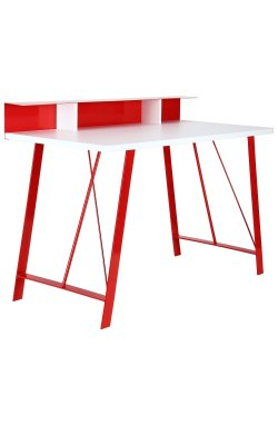 Компьютерный стол Mayakovsky красный/белый