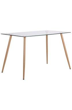 Стол обеденный Умберто DT-1633 бук/стекло прозрачное