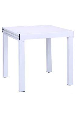 Стол Пирей B179-76-2 750(1500)*750*750 База белый/Стекло белый