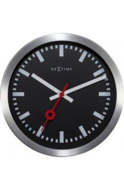 "Часы настенные ""Station"", черные - wos810"