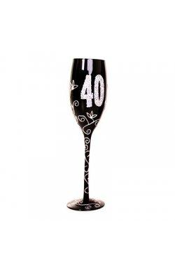 """Бокал для шампанского """"40"""", черный - wos2324"""