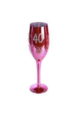 "Бокал для шампанского ""Happy Birhday"" 40 - wos5594"