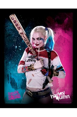 Постер в раме Suicide Squad (Harley Quinn) - wos6078