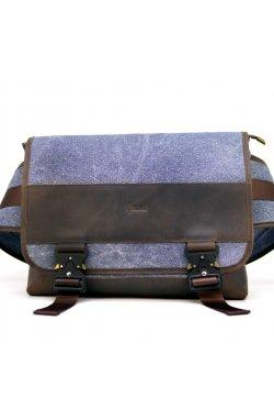 Эксклюзивная мужская сумка через плечо RK-1737-4lx бренд TARWA Синий