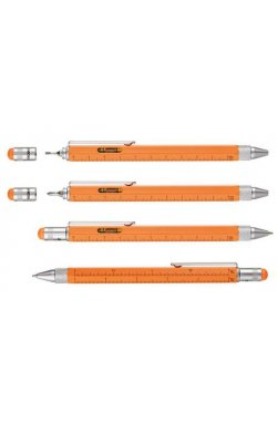 Ручка шариковая-стилус Construction, оранжевая - wos6926