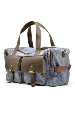 Дорожная сумка из парусины и лошадиной кожи RKj-5915-4lx бренда TARWA светло-С