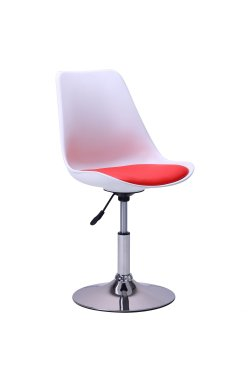 Барный стул Aster chrome белый+красный