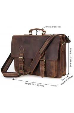 Портфель Vintage 14430 винтажная кожа Коричневый, Коричневый Коричневый