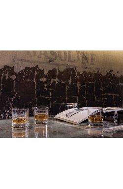 """Набор стаканов для виски """" WARNING """" Style Prestige / 2 шт / 290 мл - wos7325"""