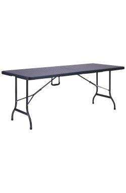 Стол складной Форд RZK-180 180/90*75*74 пластик Rattan Black