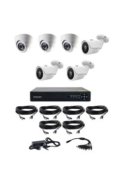 Комплект из 3-х уличных и 3-х купольных AHD камер CoVi Security AHD-33WD KIT