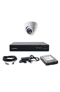 Комплект AHD видеонаблюдения на одну купольную камеру CoVi Security AHD-01D KIT HDD