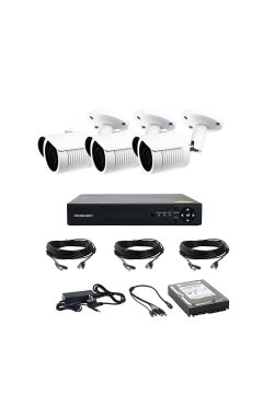 Комплект AHD видеонаблюдения на 3-и уличные камеры CoVi Security AHD-3W KIT HDD 500 Гб