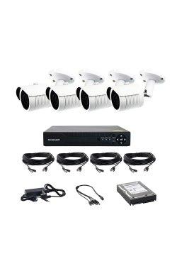 Комплект AHD видеонаблюдения на 4-е уличные камеры CoVi Security AHD-4W KIT HDD 500 Гб